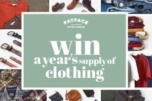 Win a year's supply of FatFace clothing!