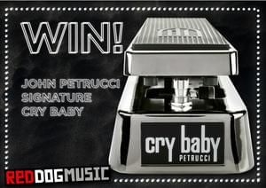 Win a John Petrucci Signature Cry Baby Wah Pedal