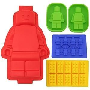 Parents... LEGO that won't hurt your feet!! Set of Cake Moulds & Ice Trays