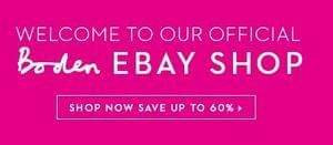 Boden Official eBay Outlet Store. Up to 60% Off!