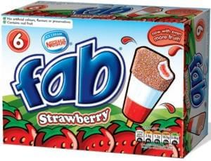 12X Fab Ice Lollies for 11p (in-store only) Tesco Deal