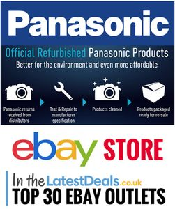 The Official Panasonic eBay Outlet. Big Discounts & Super Low Prices!