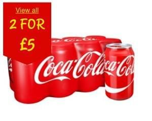 Discount: 16 cans of Coke for £5 - all varieties
