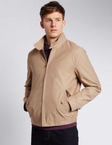 Discount Cotton Rich Harrington Stormwear Jacket @ M&S