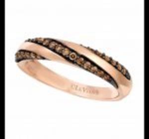 Amazing Discount 14ct Strawberry Gold & Chocolate Diamonds Ring