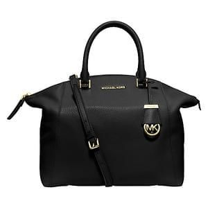 Michael Kors Riley Large Leather Satchel, Black