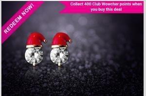 Cute Santa Hat Earrings at Wowcher