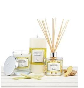 Linea Lemongrass and Ginger pillar candle - half price