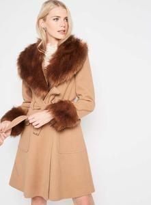 Discount Faux Fur Cuff And Collar Coat Save £45 @ Miss Selfridge