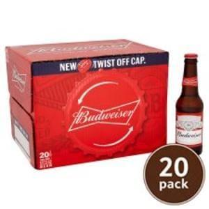 20x Budweiser Bottles Deal & Discount