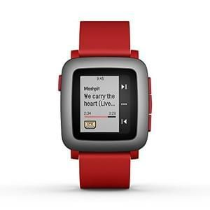 Discount Pebble Time Smartwatch for Smartphone - Red Save £74.87 @ Amazon