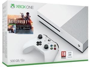 Xbox One S 500GB Battlefield 1 Bundle, Mafia 3 & Overwatch (GTA V for £20 extra)
