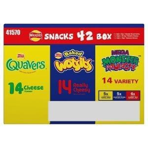 Walkers Snacks Mixed 42 Box Less Than 10p per pkt @ Iceland