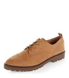 Discount Tan Suedette Brogues Save £16.99 @ New Look