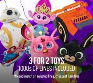 Argos 3 for 2 Toys Sale