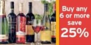 25% Off 6 bottles of wine & Champagne until 13th Nov @ Sainsburys