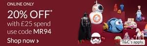 Toy sale up to 30% off plus extra 20% off use code MR94 @ Debenhams