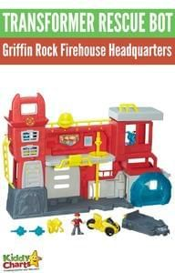 Win Transformer Rescue Bot Griffin Rock Firehouse Headquarters playset