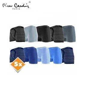 New Mens Pierre Cardin Paris Stripe Underwear Seamless Boxers Pack of 5 Save £5