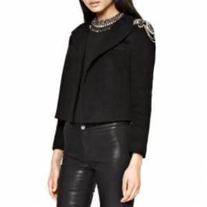 French Connection Black Sparkly Long Sleeve Jacket