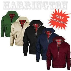 Harrington Jacket Mens Classic Retro Scooter 1970 S Vintage Bomber Mod Coat Top