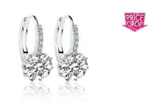 Clear Sapphire Earrings ... get blingy!!