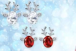 Crystal Reindeer Earrings! Only £4!!