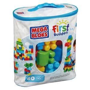 Mega Bloks First Builders Big Building Bag  60 blocks