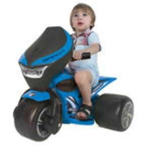 ride on - 6v avigo bandit trimoto in blue