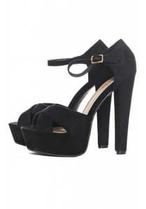 Save over £30 on these Chunky Faux Suede Heels at AX Paris