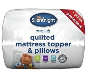 Silentnight Mattress Topper and 2 Pillow Set - Double