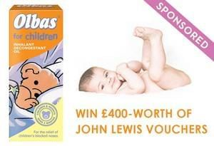 Win £400 John Lewis vouchers with Olbas for Children