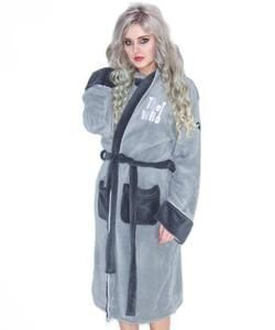 [Low Stock] The Who - Women's Grey Dressing Gown/Bathrobe