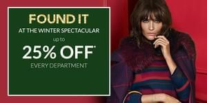 Debenhams Winter Spectacular Sale (25% off + 10% off with voucher)