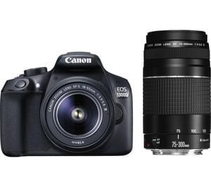 CANON EOS 1300D DSLR Camera with 18-55 mm DC III Zoom Lens and EF 75-300 mm