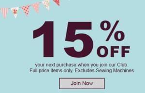 Hobbycraft - 15% off next purchase