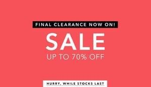 Miss Selfridge - up to 70% off in the Final Clearance