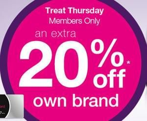 Treat Thursday today at Superdrug! Get 20% off!!