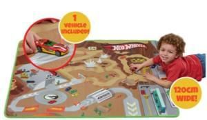 Less than half price. Hot wheels playmat & car