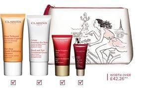Free Clarins Gift Set Worth Over £40 With A £50 Purchase