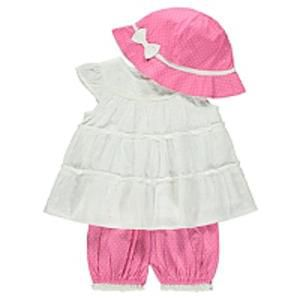 3 Piece Top, Bloomer And Hat Set Half Price Free C+C