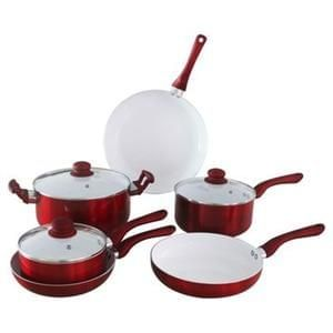 Ceramic 6 piece Saucepan set+ Free c+c