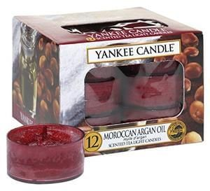 Yankee Candle Tea Light Candles, Moroccan Argan Oil, Pack of 12