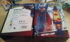 Official DC Comics Superman Motion Lava Lamp