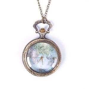 Vintage world map pattern quartz chain pendant pocket watch necklace vintage world map pattern quartz chain pendant pocket watch necklace freerunsca Gallery