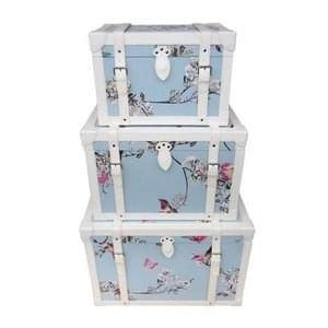 Beautiful Birds Duck-Egg Chest 3 Sizes From £11.99 Free C+C