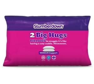 Slumberdown Big Hug Pair of Pillows Free C+C