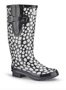Splash White Dot Welly Boots Save £25 Free C+C