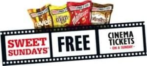 Sweet Sundays: Cinema Ticket + 2 Big Bags of Sweets