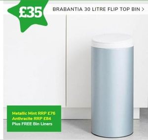 STAR BUY! Brabantia 30 Litre FlipBin. BETTER THAN HALF PRICE